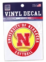 University of Nebraska Softball Decal Nebraska Cornhuskers, Nebraska Vehicle, Huskers Vehicle, Nebraska Stickers Decals & Magnets, Huskers Stickers Decals & Magnets, Nebraska  Other Sports, Huskers  Other Sports, Nebraska Husker Softball Decal, Huskers Husker Softball Decal
