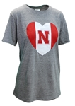 Womens Nebraska Vintage Heart CH Tee Nebraska Cornhuskers, Nebraska  Ladies, Huskers  Ladies, Nebraska  Ladies T-Shirts, Huskers  Ladies T-Shirts, Nebraska  Short Sleeve, Huskers  Short Sleeve, Nebraska Womens Nebraska Vintage Heart CH Tee, Huskers Womens Nebraska Vintage Heart CH Tee