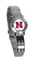 Womens Husker Dynasty Watch Nebraska Cornhuskers, Nebraska  Ladies Accessories, Huskers  Ladies Accessories, Nebraska  Ladies, Huskers  Ladies, Nebraska  Watches Bands & Buckles, Huskers  Watches Bands & Buckles, Nebraska Womens Silver Dynasty Watch, Huskers Womens Silver Dynasty Watch