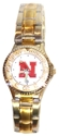 Womens Two Tone Metal Band Watch Nebraska Cornhuskers, Nebraska  Ladies Accessories, Huskers  Ladies Accessories, Nebraska  Ladies, Huskers  Ladies, Nebraska  Watches Bands & Buckles, Huskers  Watches Bands & Buckles, Nebraska Womens Two Tone Metal Band Watch, Huskers Womens Two Tone Metal Band Watch