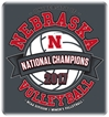 YOUTH Husker Volleyball 2017 National Champs Banner Tee - YT-99996