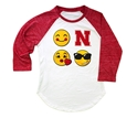 Youth Nebraska Emoji Raglan Nebraska Cornhuskers, Nebraska  Youth, Huskers  Youth, Nebraska  Kids, Huskers  Kids, Nebraska Youth Nebraska Emoji Raglan, Huskers Youth Nebraska Emoji Raglan