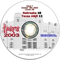 2003 Dvd Texas A & M Husker football, Nebraska cornhuskers merchandise, husker merchandise, nebraska merchandise, nebraska cornhuskers dvd, husker dvd, nebraska football dvd, nebraska cornhuskers videos, husker videos, nebraska football videos, husker game dvd, husker bowl game dvd, husker dvd subscription, nebraska cornhusker dvd subscription, husker football season on dvd, nebraska cornhuskers dvd box sets, husker dvd box sets, Nebraska Cornhuskers, 2003 Texas A&M