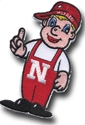 4 Inch Lil Red Patch Nebraska Cornhuskers, Lil Red Patch 4 inch